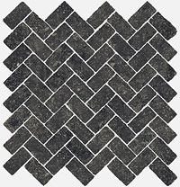 ITALON room stone black mosaico cross 29.7x31.5
