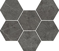 ITALON charme evo antracite mosaico hexagon нат (1шт=0,05м2) 25x29