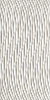 ATLAS CONCORDE 3d wall twist white matt 40x80