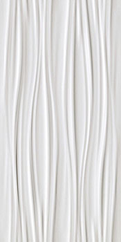 ATLAS CONCORDE 3d wall ribbon white matt 40x80