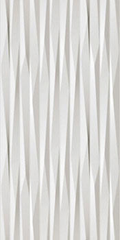 ATLAS CONCORDE 3d wall blade white matt 40x80
