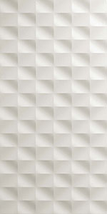 ATLAS CONCORDE 3d wall mesh white matt 40x80