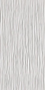 ATLAS CONCORDE 3d wall wave white glossy 40x80