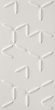 ATLAS CONCORDE 3d wall flake white matt 40x80