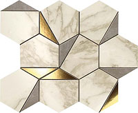 ATLAS CONCORDE marvel edge gold hex gris-calacatta 25.1x29